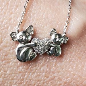 STERLING KOALA AND BABY NECKLACE